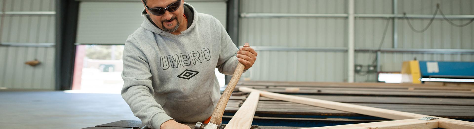 Assembling precision cut roof trusses